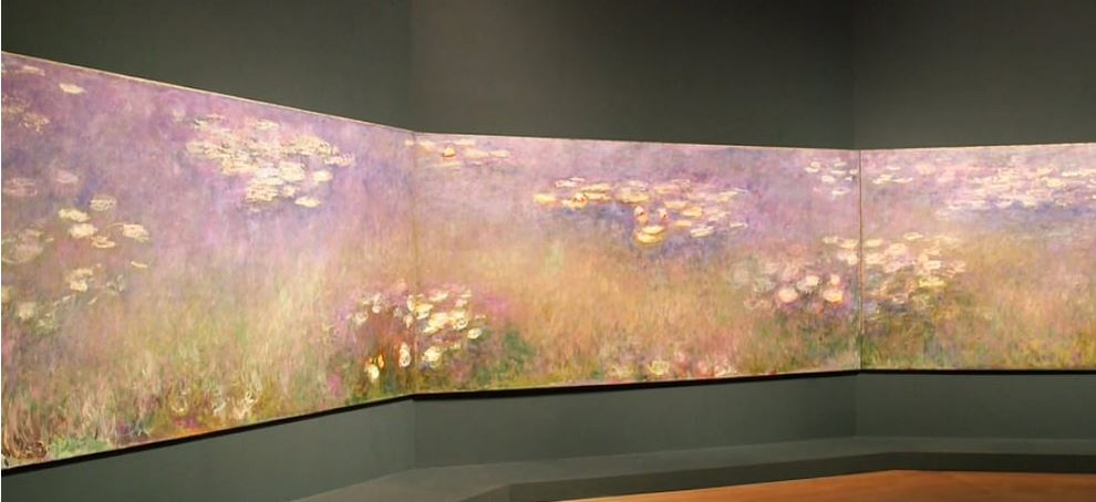Monet: Agapanthus Triptych excerpt, 1916 (Water Lilies with Weeping Willows)