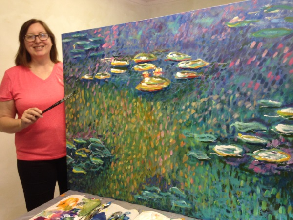 A student's interpretation of Monet's Waterlilies, 1916.