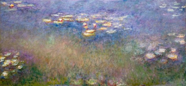Monet: Water Lilies with Weeping Willows, 1916