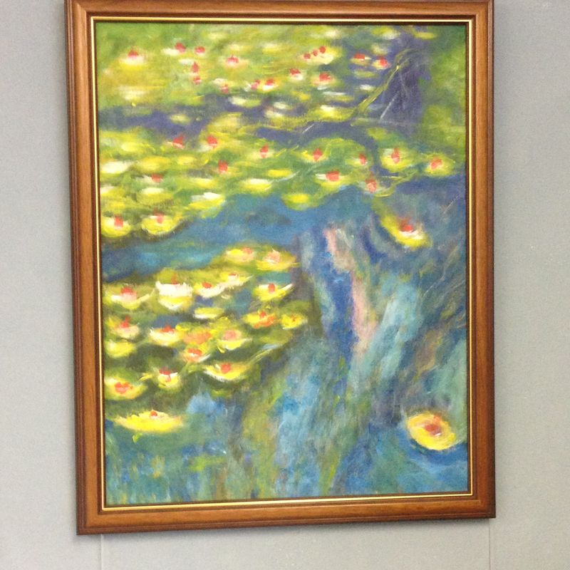 Monet: Water Lilies, 1919, No.2 \\o// Student painting completed in just one session at Inglis Academy - www.inglisacademy.com.