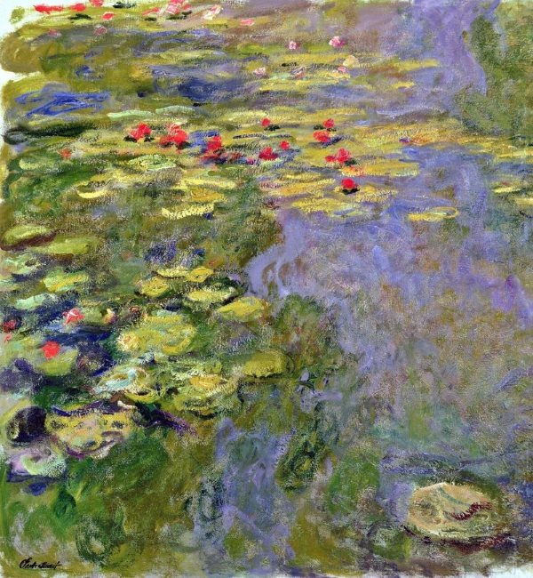 Monet: Water Lilies, 1919, No.2 - Learn this painting at Inglis Academy (image © 2017 Peter Inglis)