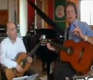 Paul McCartney explains Baroque to Rock, with the assistance of Carlos Bonell.