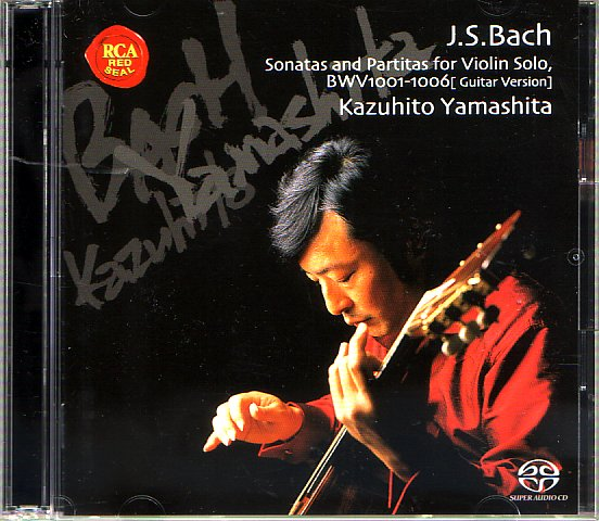 Kazuhito Yamashita plays all the Bach pieces for solo violin.