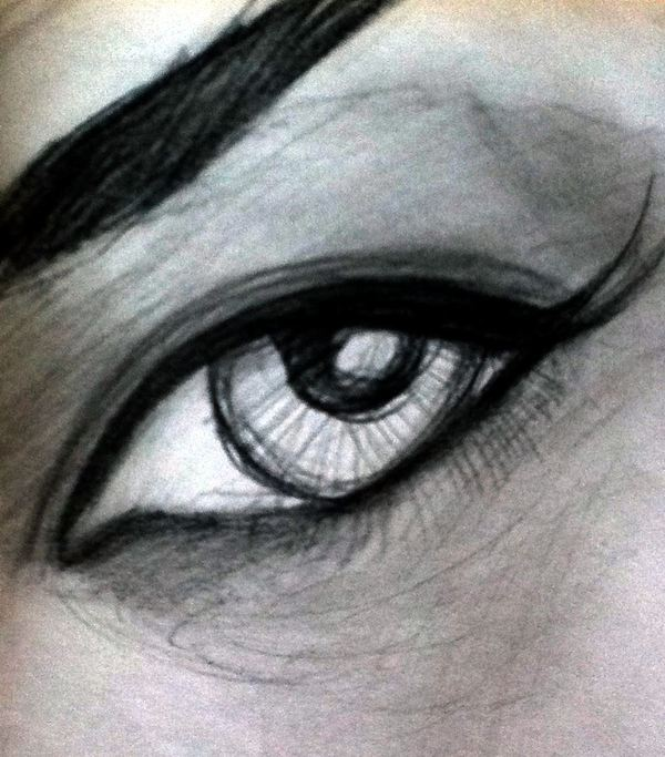 Sketch of an eye by Peter Inglis - Learn this at Inglis Academy.