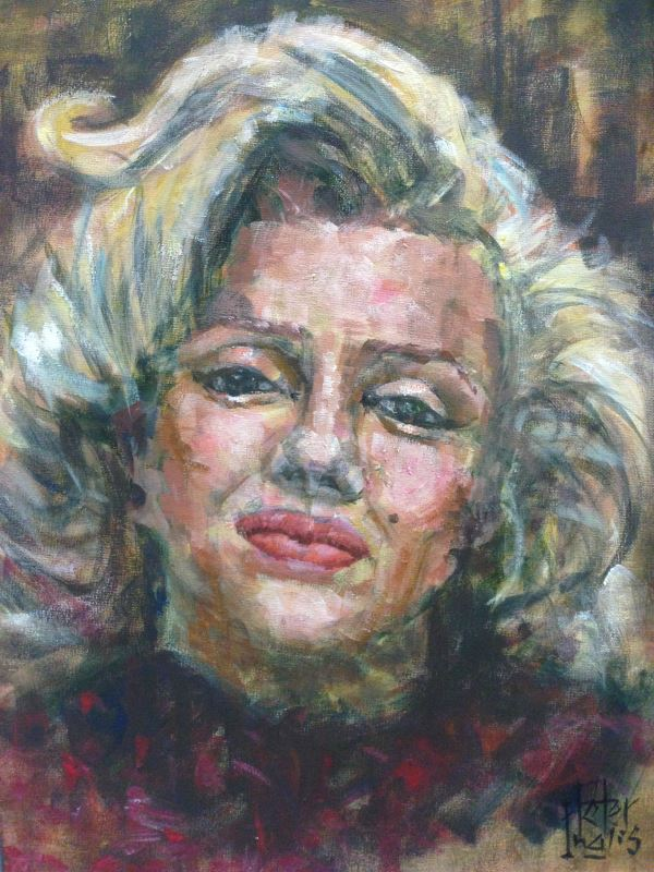 Marilyn Monroe, by Peter Inglis, 2019.