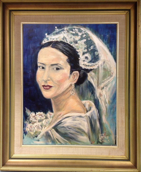 Bridal Portrait painted by Peter Inglis - www.peteringlisart.com