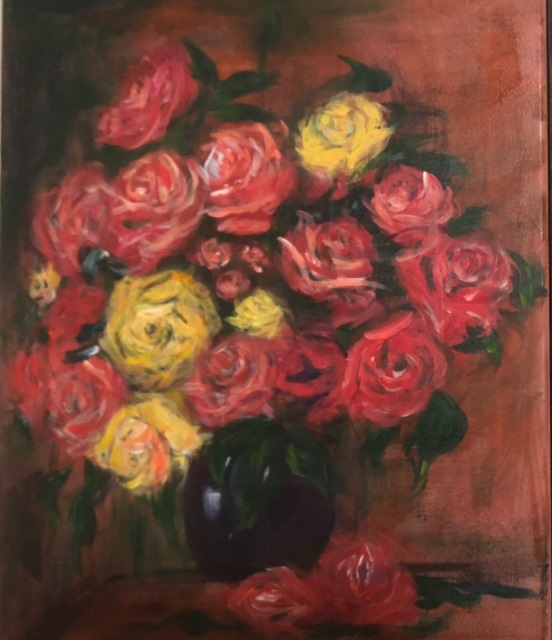 Renoir: Bouquet of Roses, 1880 - student painting.