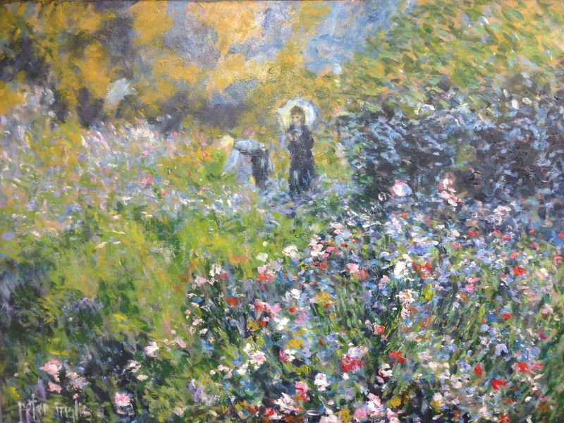 Renoir: Woman with a Parasol in the Garden, 1875 | Painting by Peter Inglis | Learn this painting at Inglis Academy - www.inglisacademy.com