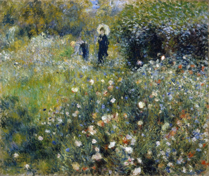 Renoir: Woman with a Parasol in the Garden, 1875