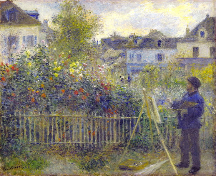 Renoir: Monet Painting in his Garden at Argenteuil, 1873