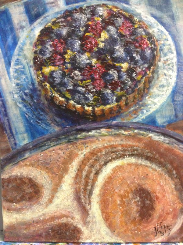 Still life - Coffee and Tart