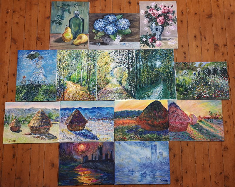 Cynthia's Monet paintings \\o// Enjoy the painting coaching at Inglis Academy - www.inglisacademy.com