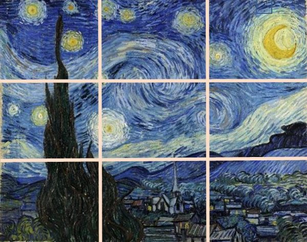 Resource materials for our Van Gogh: Starry Night painting class at Inglis Academy.