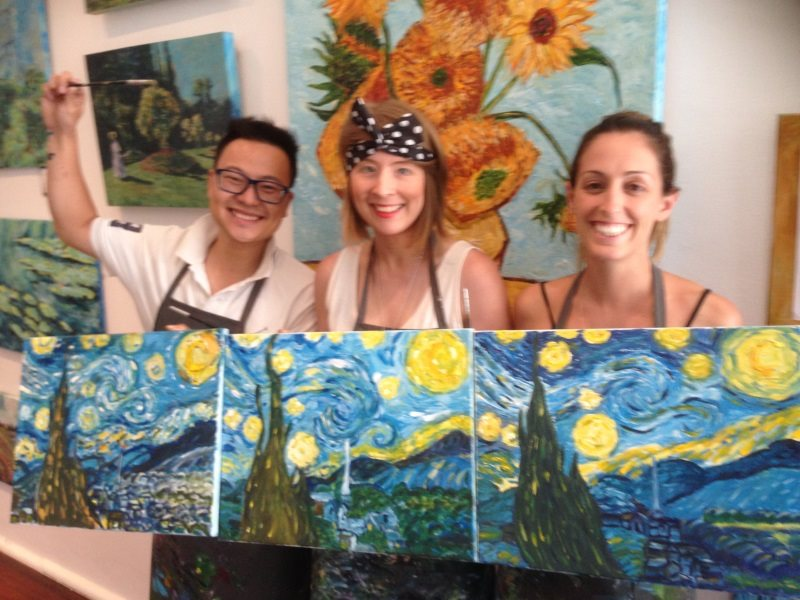 Original interpretations of Van Gogh's Starry Night.