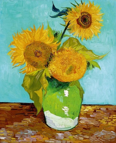 Van Gogh's 'Sunflowers' version 1.