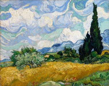 Van Gogh: Wheat Field with Cypresses, 1889