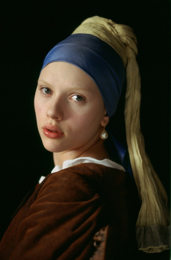 Scarlett Johansson as  'Girl with the Pearl Earring;.