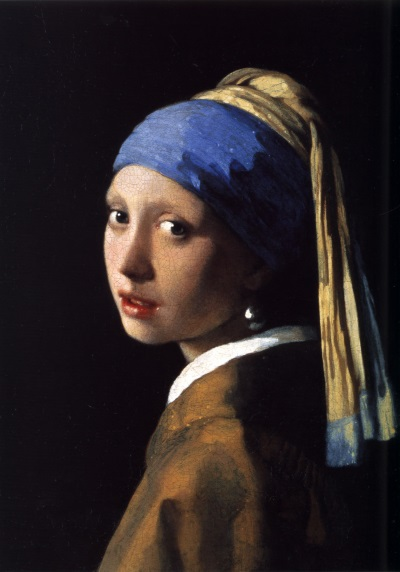 Vermeer: Girl with a Pearl Earring, 1665 - an initial sketch